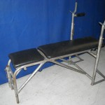 Exercise bench grey painted
