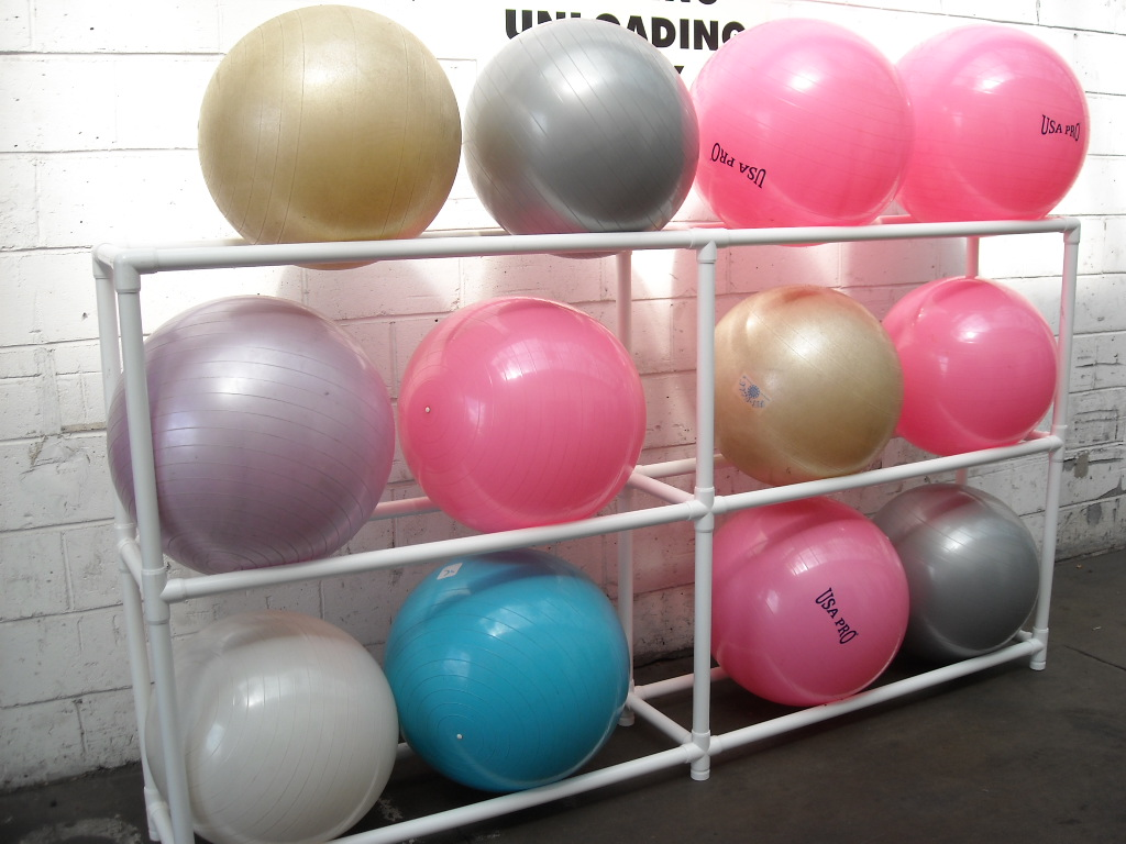 Exercise Ball Rack 12 Ball Prop Hire And Deliver
